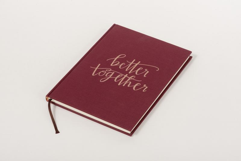 laserable linen book for personalization